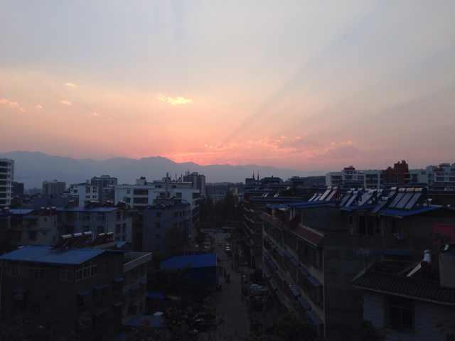 Coucher de soleil Xichang