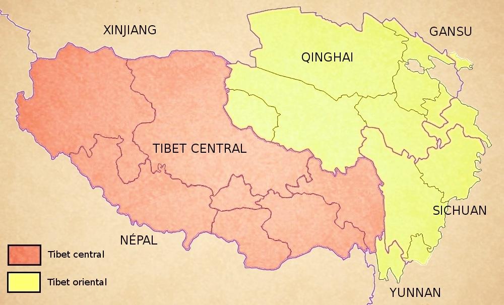 Carte du Tibet
