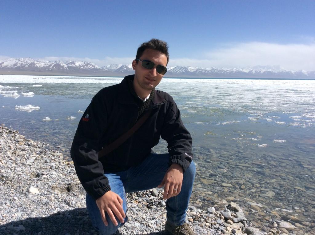 John Stalter au Lac Namtso