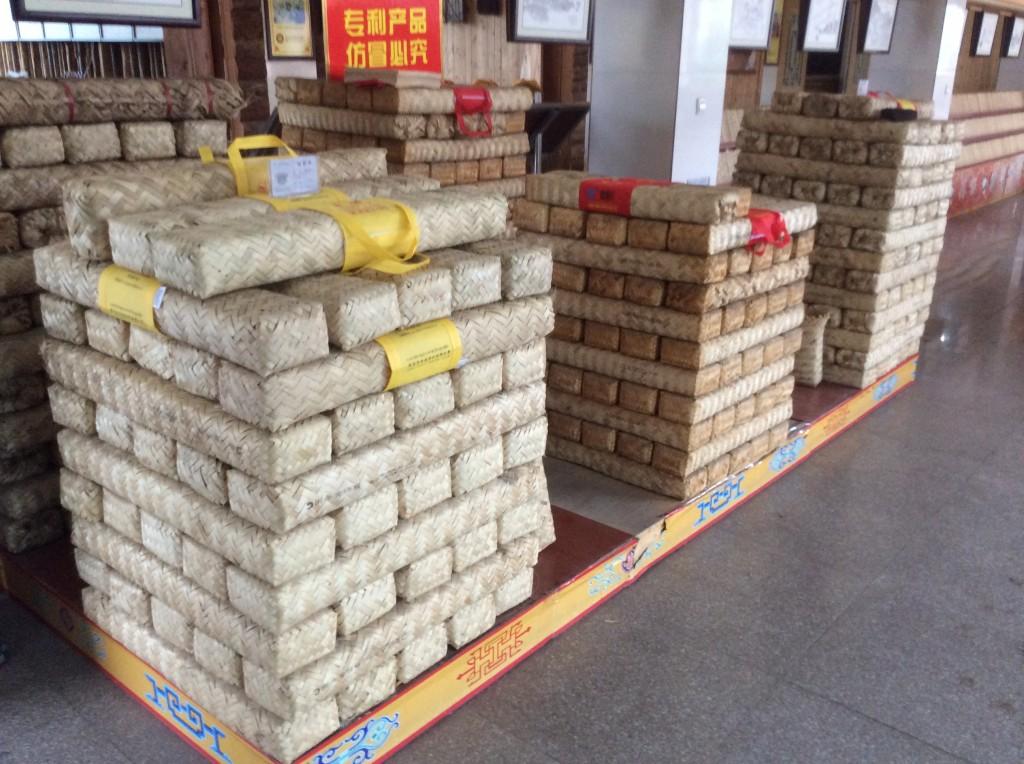 Briques de thé tibétain