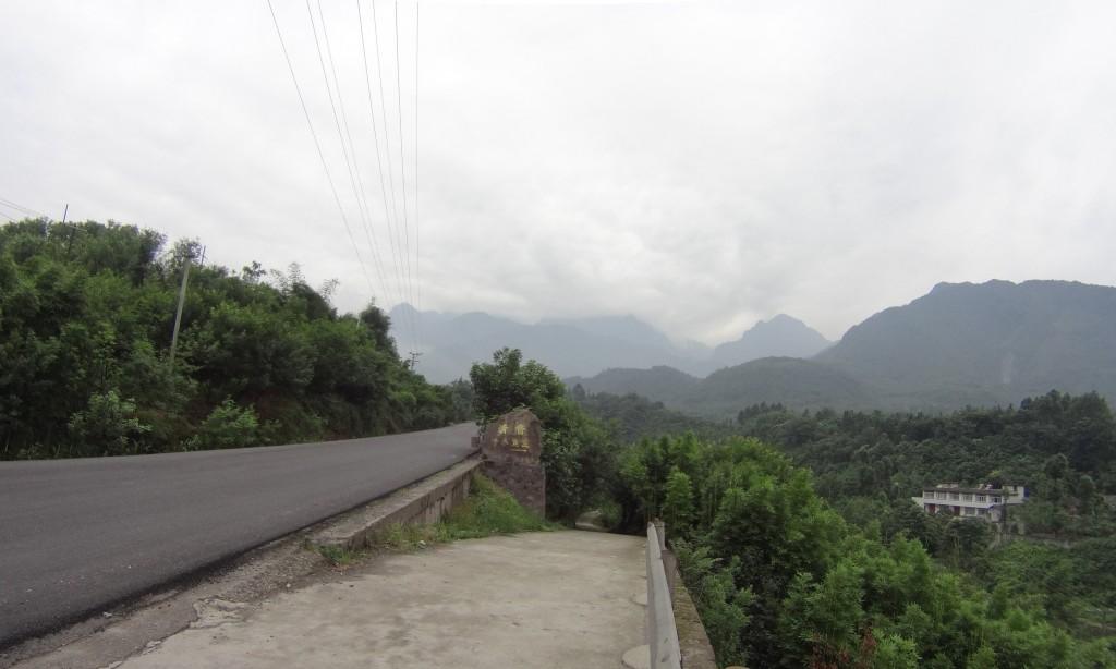 Montée route vélo Emeishan