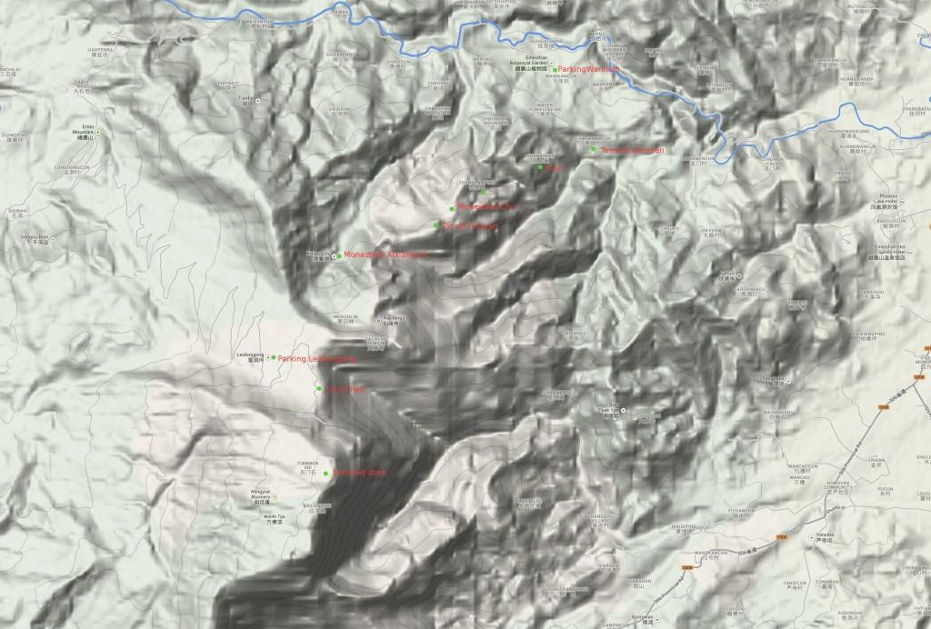Profil élevation mont Emei