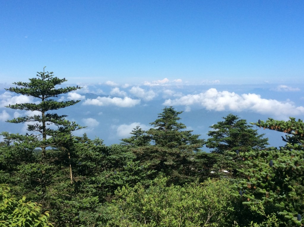 Mont Gongga vue du mont Emei