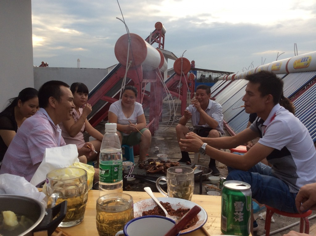 Grillades sur le toit en Chine