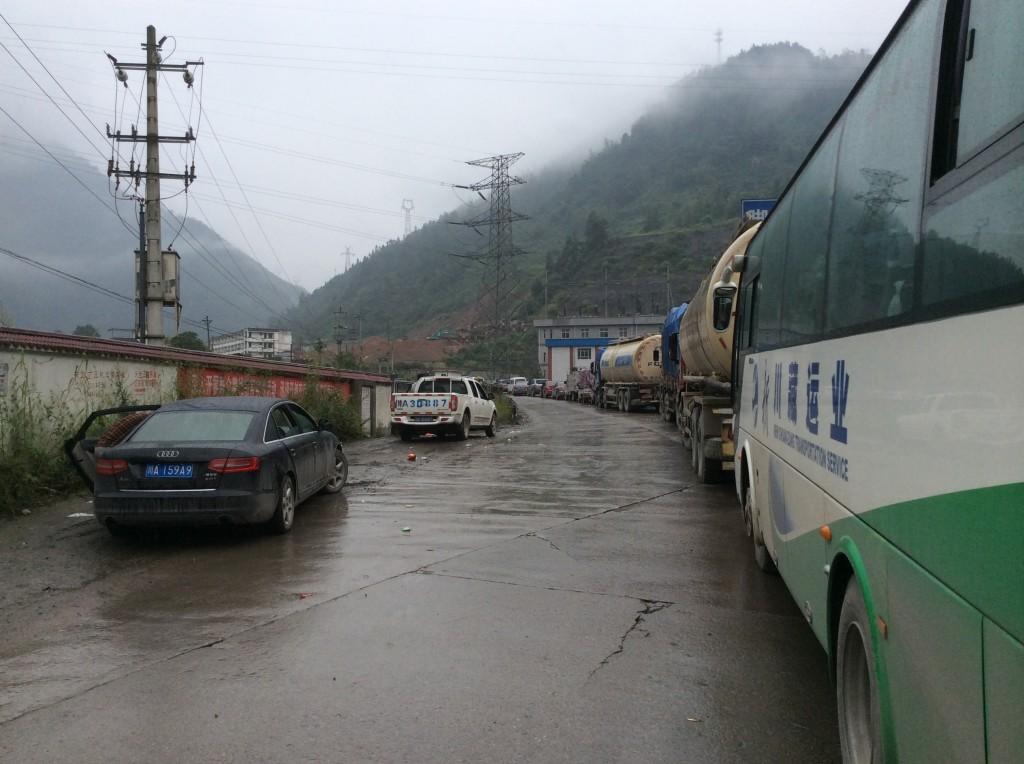 Bouchons route Chengdu Kangding