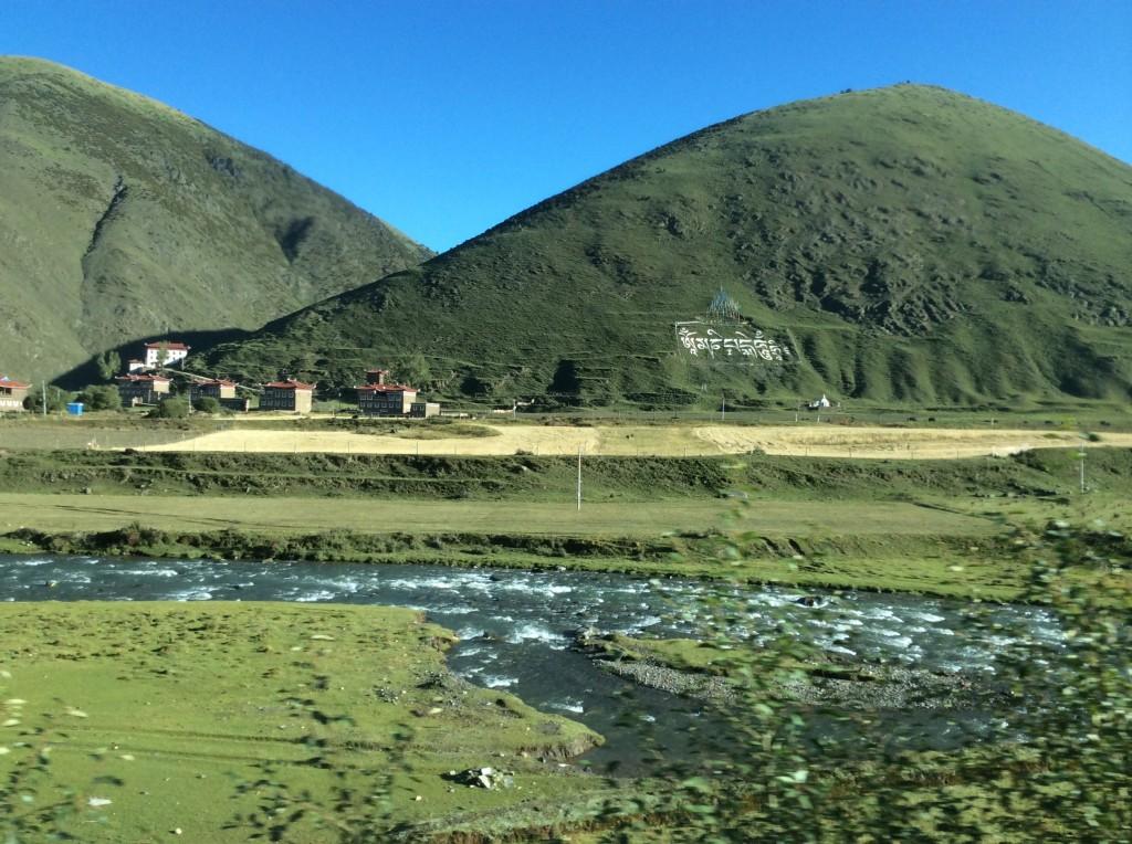 Paysage route Kangding Litang