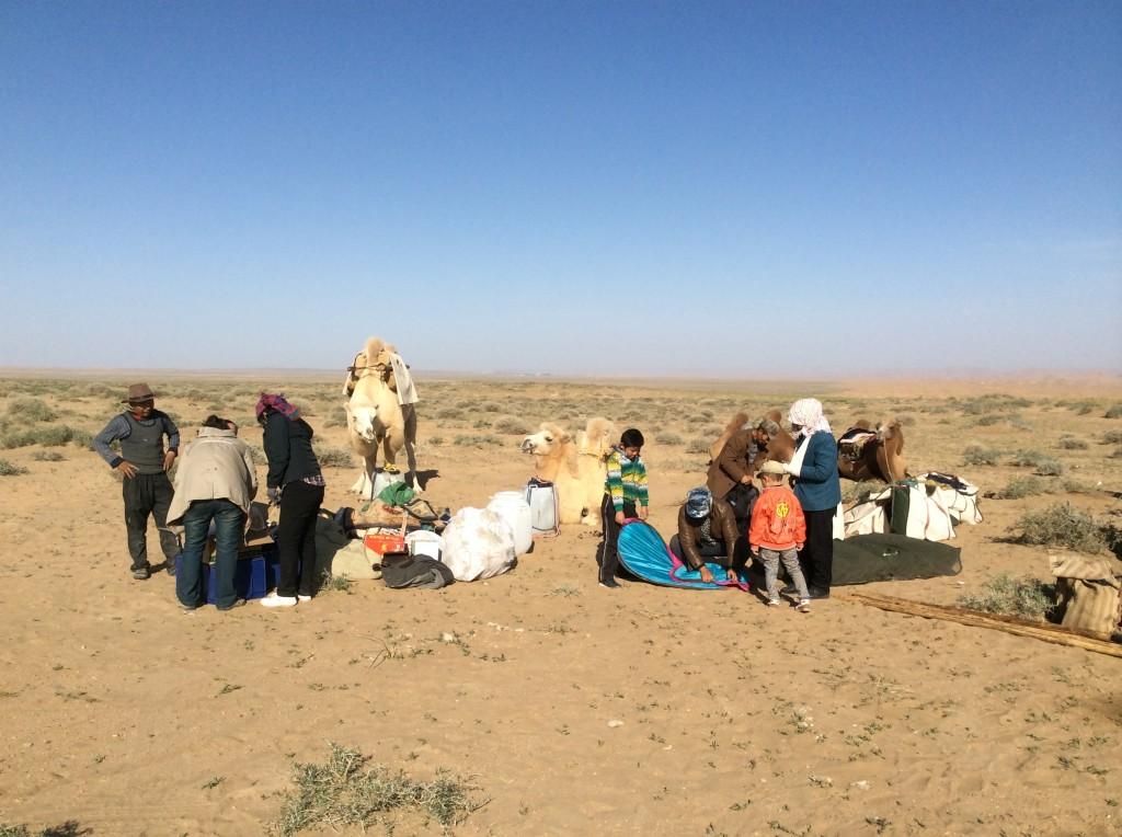 Départ trek désert de Gobi