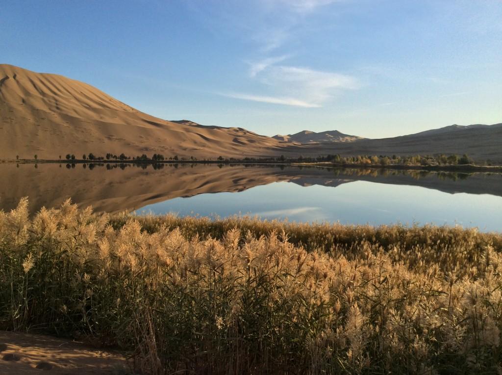 Oasis désert Mongolie Intérieure