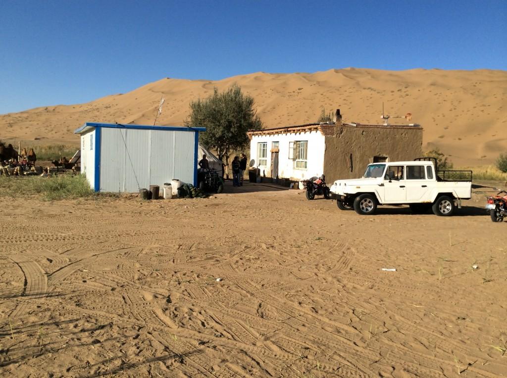 Habitations mongoles oasis désert Gobi