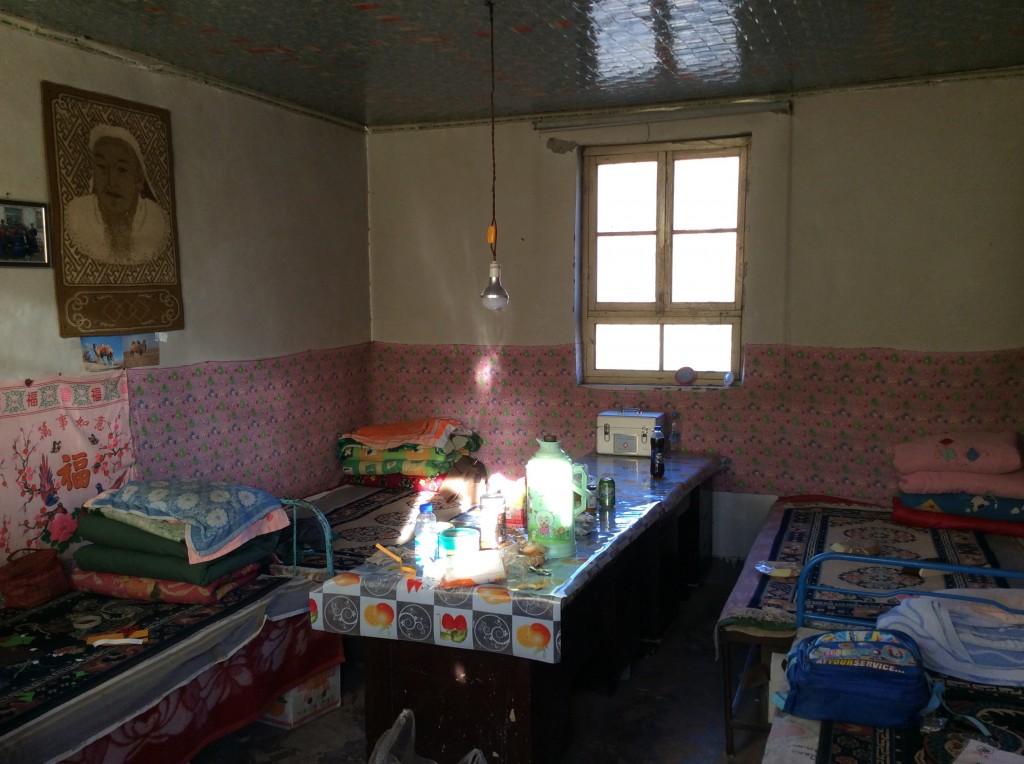 Intérieur maison mongole désert