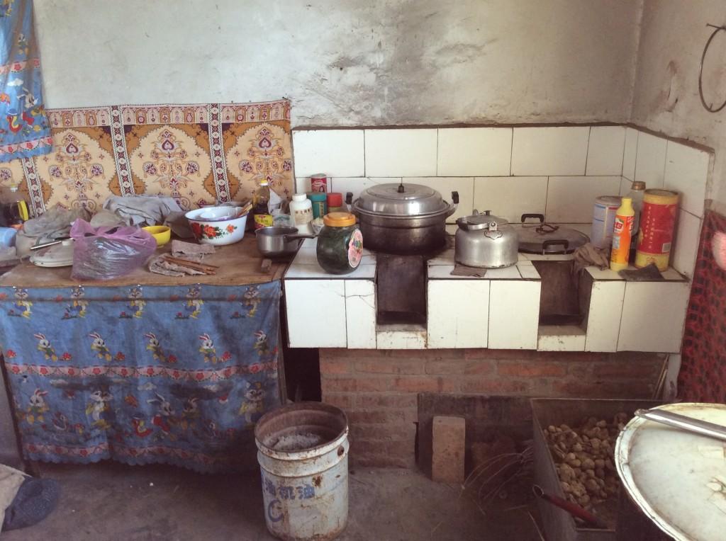 Intérieure maison mongole désert Gobi