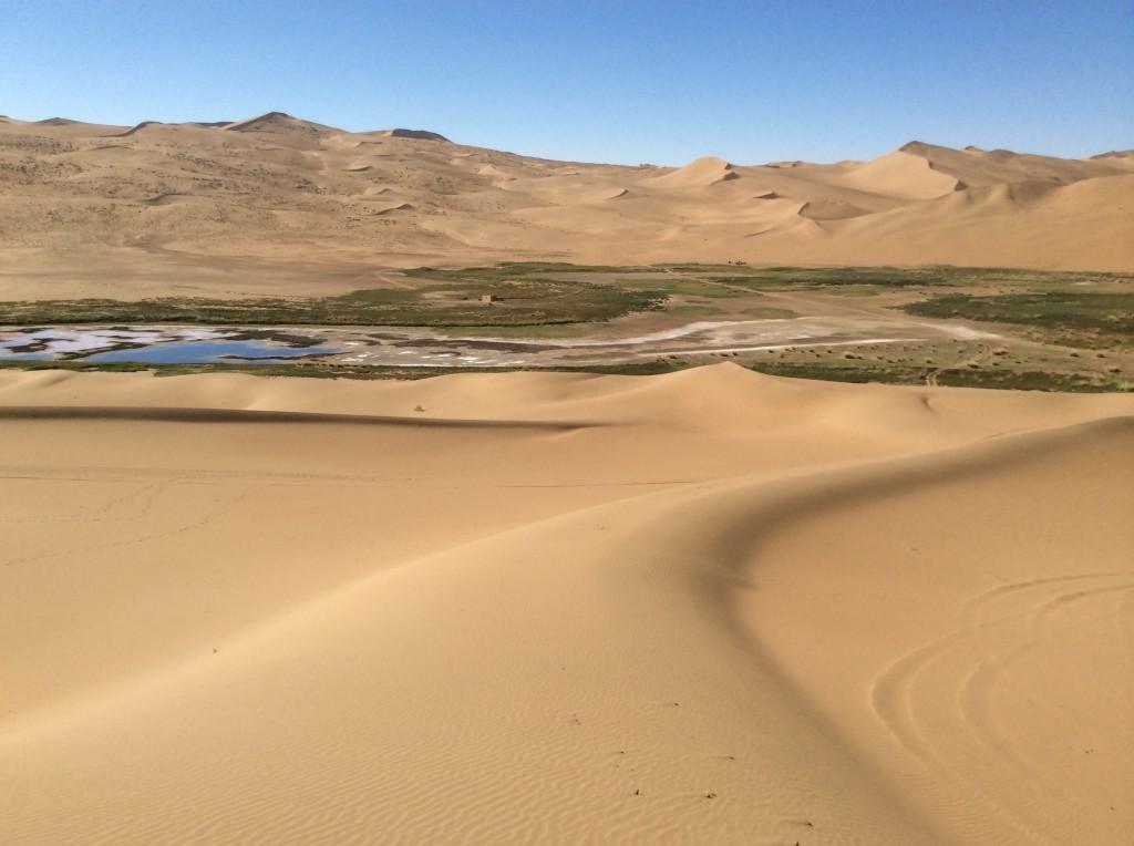 Oasis salé désert Gobi