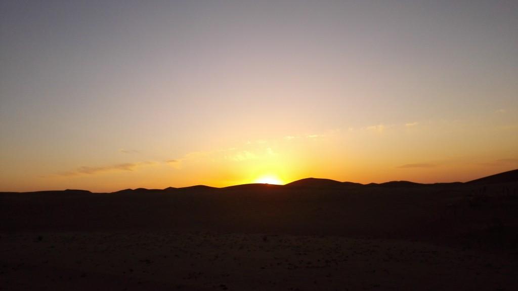 Coucher de soleil désert Gobi Chine