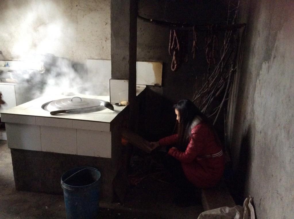 Cuisinière à bois campagne Chine