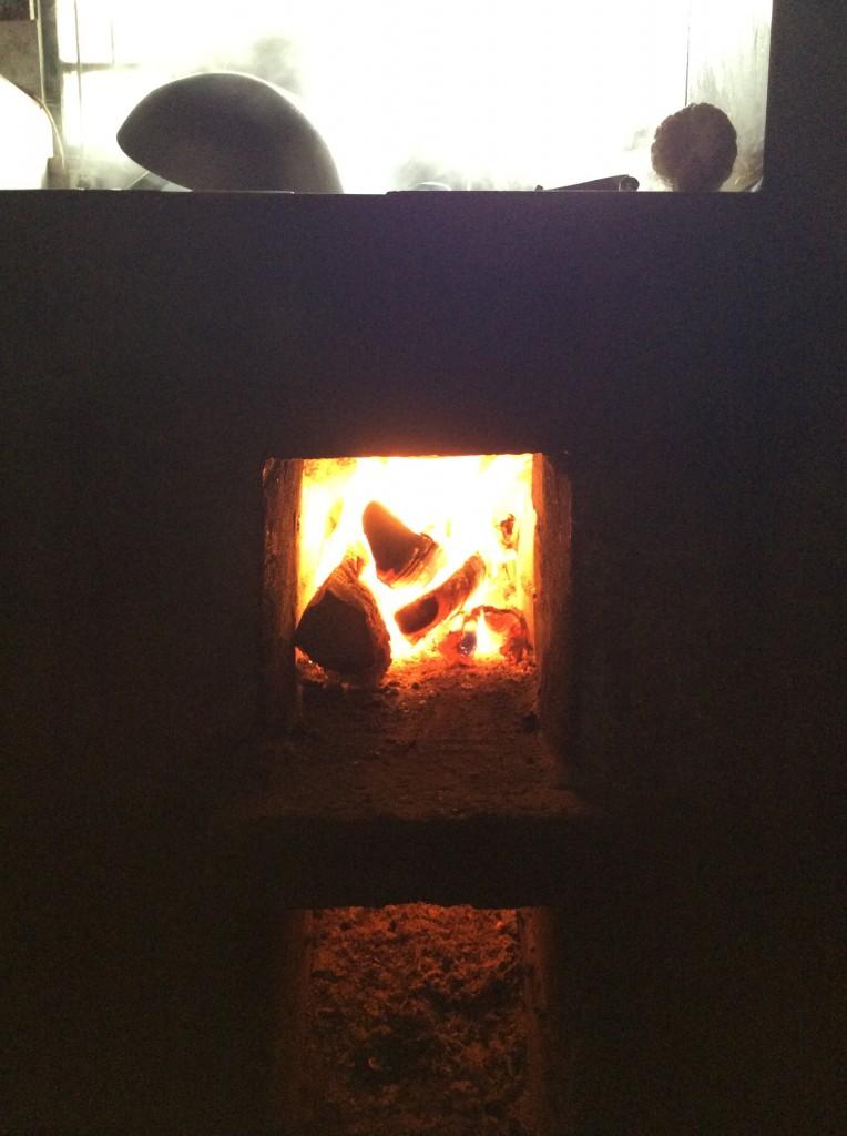 Foyer cuisinière à bois