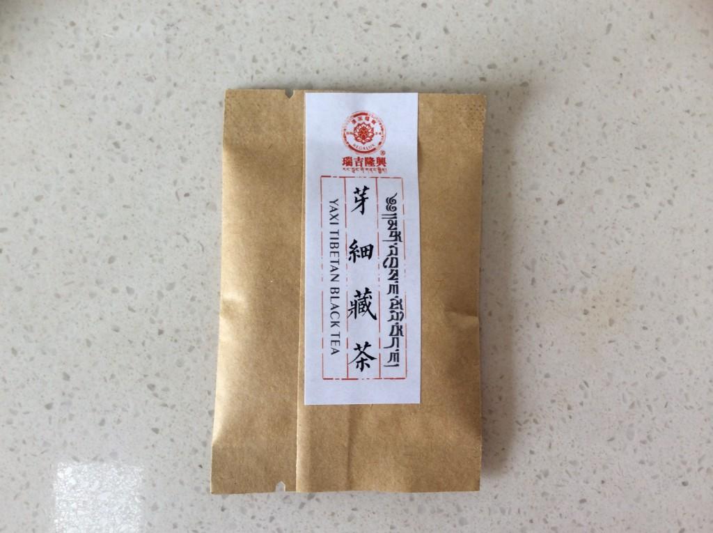 sachet thé tibétain noir