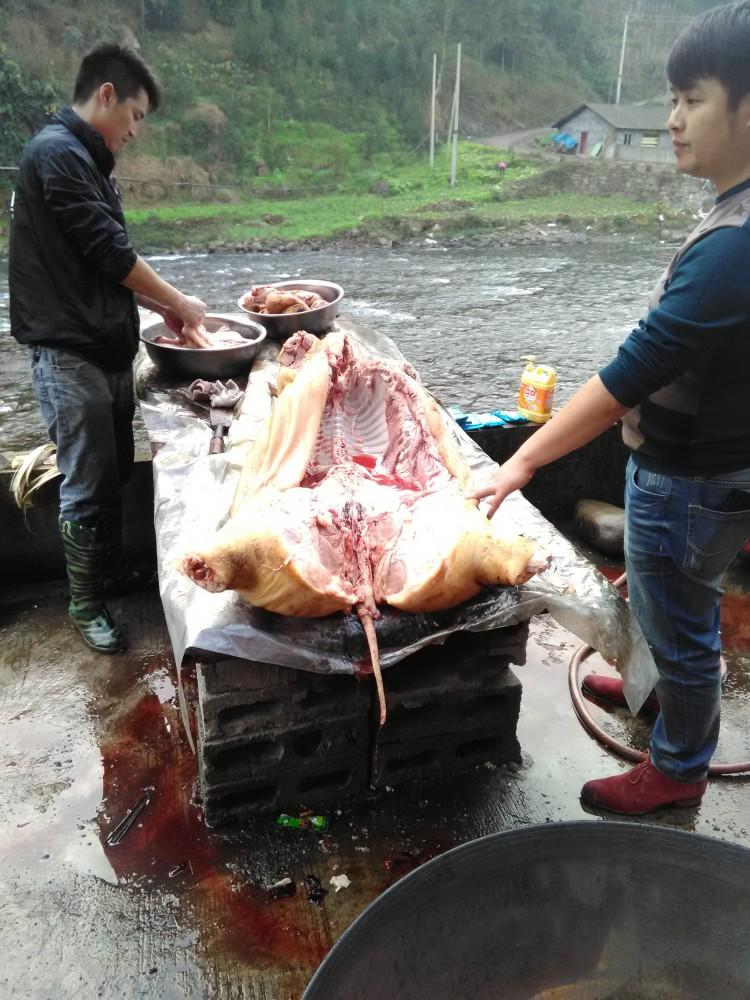 Dépeceage du cochon à Xining (Leibo)