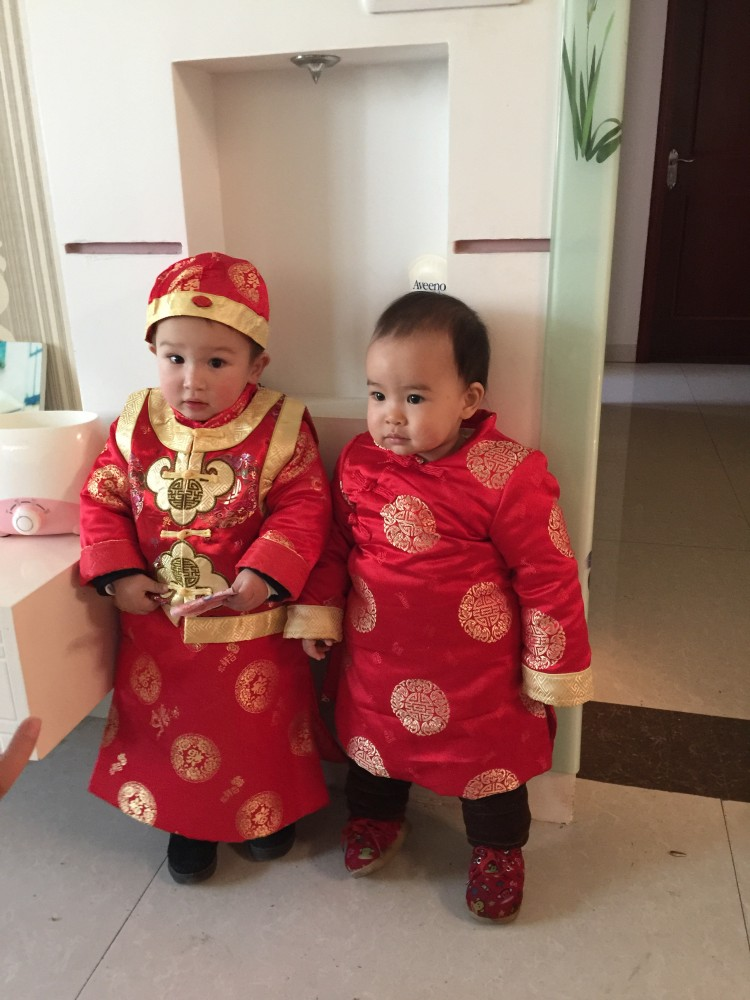 Enfants chinois costume traditionnel