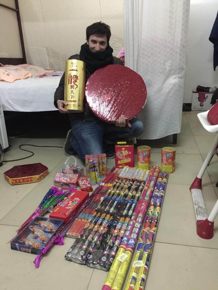 Feux d'artifice nouvel an chinois