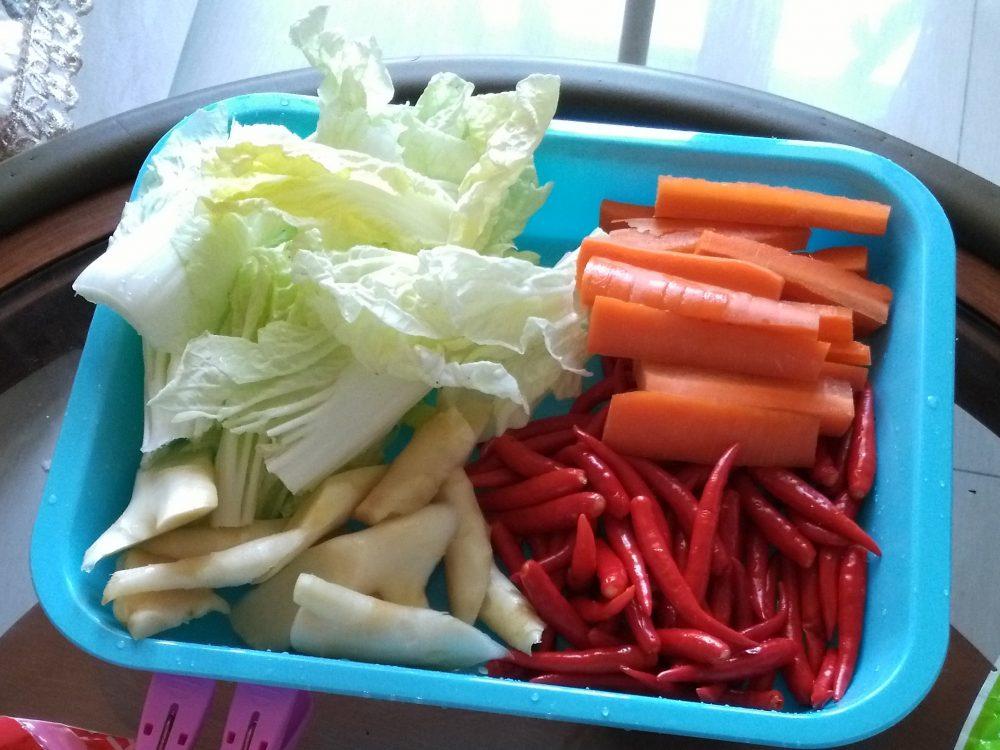 piment chou carotte gingembre